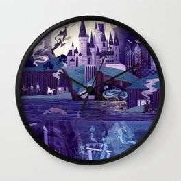 The Castle on the Hill Wall Clock