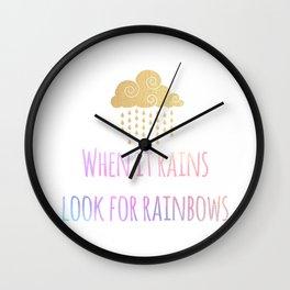 Look for Rainbows Wall Clock