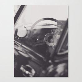 Super car details, british triumph spitfire, black & white, high quality fine art print, classic car Canvas Print