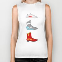 marty mcfly Biker Tanks featuring Marty by Acid Brand