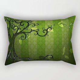 LEAVE - Summer Green Rectangular Pillow
