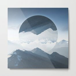 High mountain in morning time Metal Print