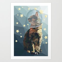 Space Cat. Art Print