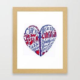 Open Heart to All Framed Art Print