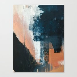 Vienna: a minimal, abstract mixed-media piece in pinks, blue, and white by Alyssa Hamilton Art Canvas Print