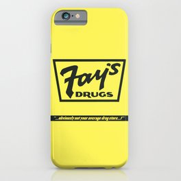 Fay's Drugs   the Immortal Yellow Bag iPhone Case