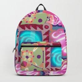 Retro granny squares Backpack