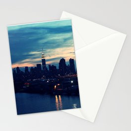 NYC - Skyline 2 by night Stationery Cards