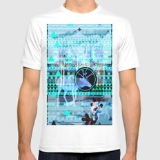Christmas reindeer collage. MEDIUM Mens Fitted Tee White