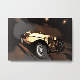 1930s Cream Vintage Car | Automobile | Old Convertible Metal Print
