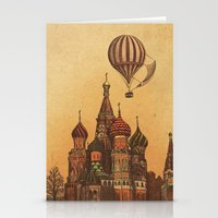 moscow Stationery Cards featuring Moving to Moscow by Terry Fan