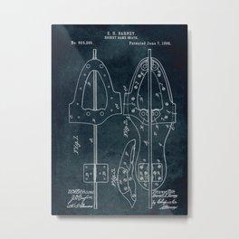 1898 - Hockey game skate patent art Metal Print