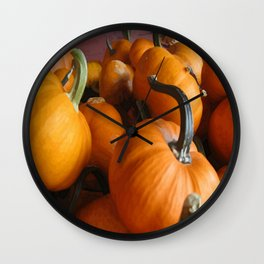 Vector Style Harvest Of Pumpkins Wall Clock