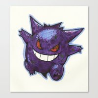 gengar Canvas Prints featuring Gengar by Trataka