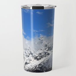 Mountain with snow Travel Mug