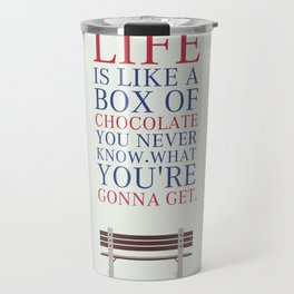 Lab No. 4 - Forrest Gump Movies Inspirational Quotes Poster Travel Mug