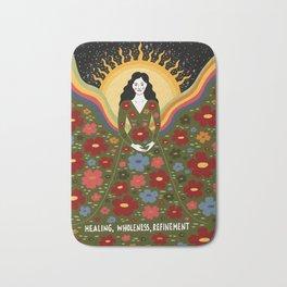 Healing, wholeness, refinement Bath Mat