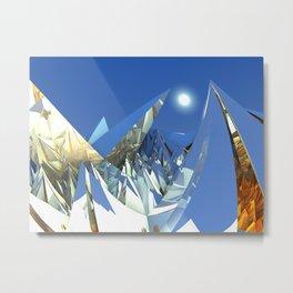 White Peaks Metal Print