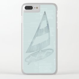 Surfing Dreamy Misty Minty Clear iPhone Case