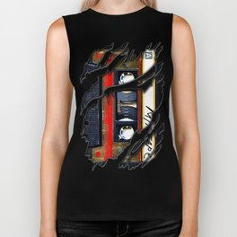 Retro cassette mix tape Biker Tank