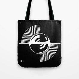 Experimentation with vector design on sphere glass reflection, 3D ambient. Version C. WB. Tote Bag
