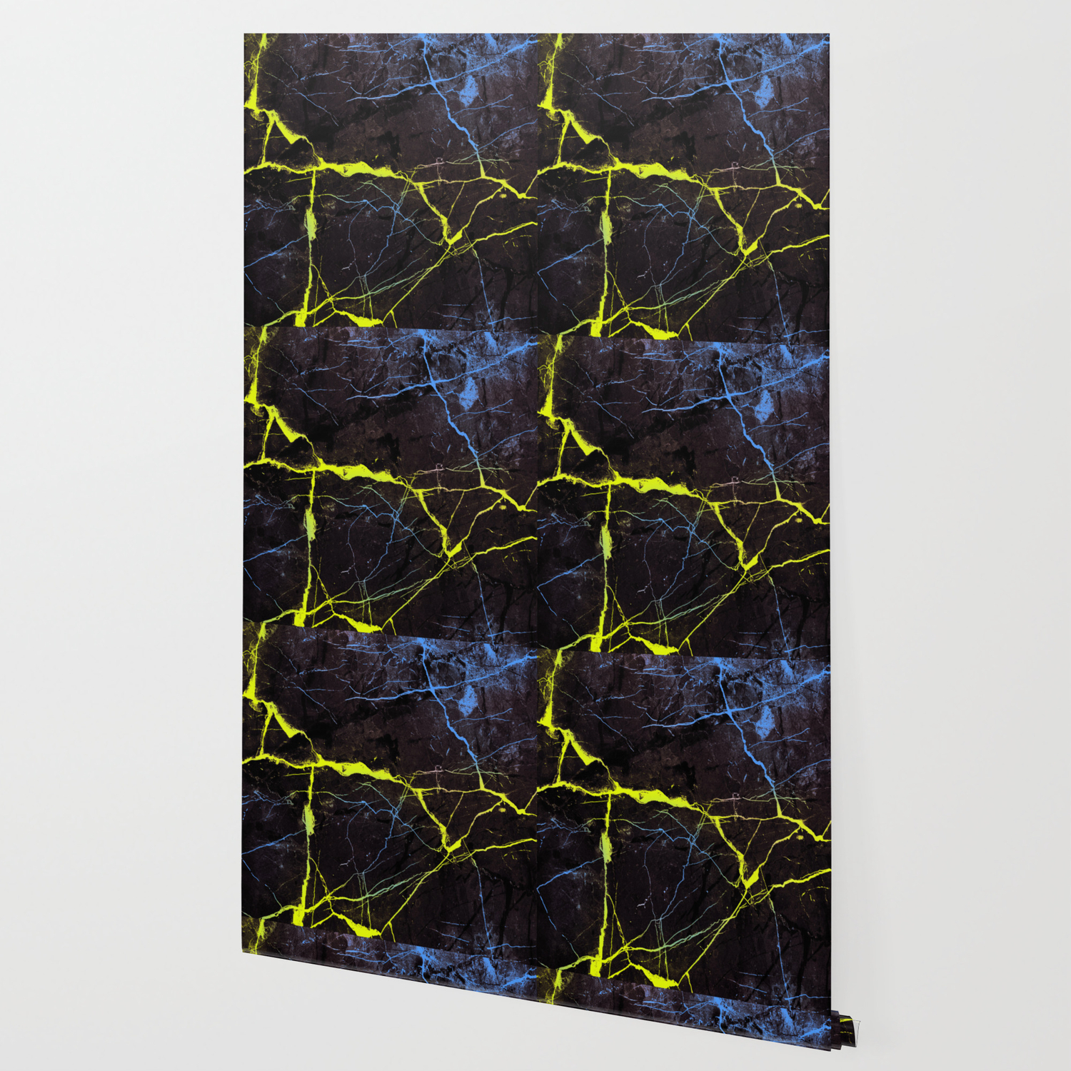 Beyond Gold And Blue Marble Wallpaper By Dec02 Society6