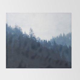 Blue Forest Throw Blanket