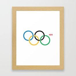 Olympic Games Rings Framed Art Print