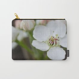 Pear Tree Flower White Carry-All Pouch