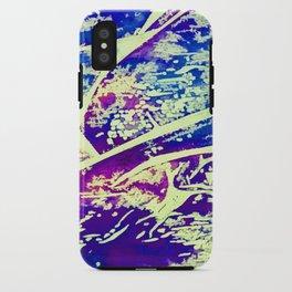 Cracked Blue iPhone Case