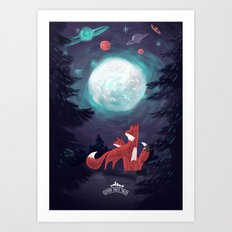 Clever Fox's Tales about the Universe Art Print