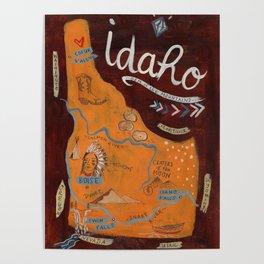 Idaho map Poster