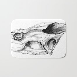 Snapping Turtle Skull Bath Mat