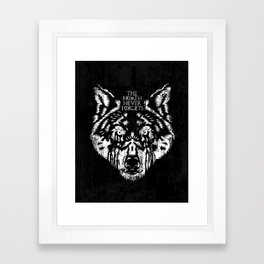 The North Never Forgets Framed Art Print