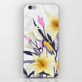 Lilly flower design iPhone Skin