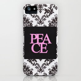 peace in black and white iPhone Case