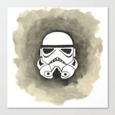 Storm Trooper Watercolor Canvas Print