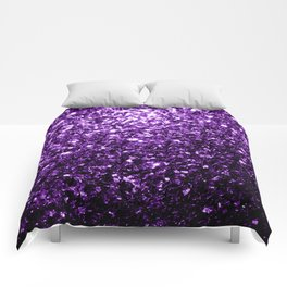 Beautiful Dark Purple glitter sparkles Comforters
