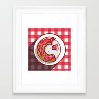 donut Framed Art Prints featuring Donut by ArievSoeharto