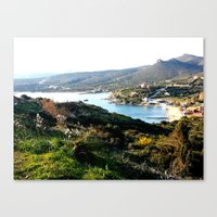greece Canvas Prints featuring Greece by Chiara