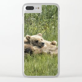 Siblings Make Good Pillows - Bear Cubs 1 Clear iPhone Case