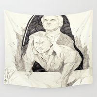 twin peaks Wall Tapestries featuring Killer twin peaks by withapencilinhand