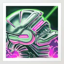 Sentient Machines of Metal & Circuitry Art Print
