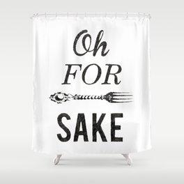 Oh For Fork Sake! Shower Curtain