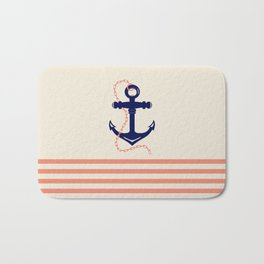 AFE Navy Anchor and Chain Bath Mat