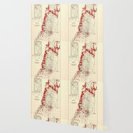 Map of Palestine Index to Villages & Settlements 1940's Wallpaper