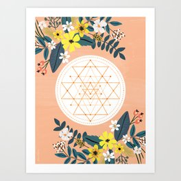 Sacred Geometry, Om. Art Print