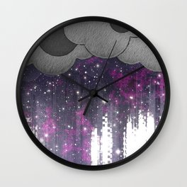 Strange Weather - Space Storm Wall Clock
