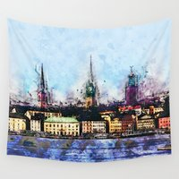 stockholm Wall Tapestries featuring Stockholm Syndrome by Ville Munter