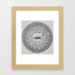 Wake up with a Cuppa Framed Art Print
